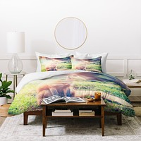Maybe Sparrow Photography Sunny Fox Duvet Cover