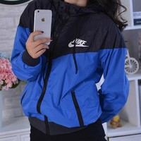 "Fashion ""NIKE"" Hooded Zipper Cardigan Sweatshirt Jacket Coat Windbreaker Sportswear"