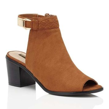 ANYA Tan Peep Toe Boot - View All - New In