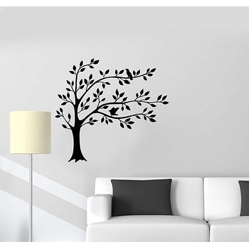 Vinyl Wall Decal Tree Leaves Branches Birds Home Interior Art Room Stickers Mural (ig5850)
