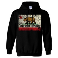California State Flag Distressed Vintage Asst Colors Hoodie