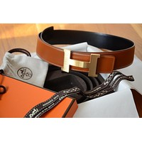 Classic 42mm Hermès belt GOLD BROWN BLACK GOLD BRUSHED Buckle Herme 95