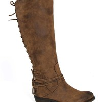 Volatile Shoes Miraculous Knee High Boots in Tan MIRACULOUS-TAN