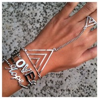 Hope and Love Hand Chain Bracelet Set- Tanya Kara Jewelry