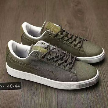 fashion puma man cowboy casual running sport shoes sneakers army green g ahxf qf  number 1