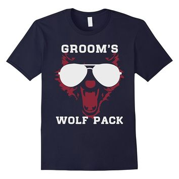 Groom's wolf pack- wild bachelor party gift t-shirts for men