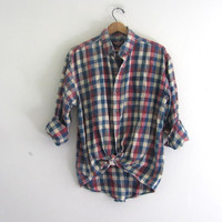 Vintage checkered Flannel / Grunge Shirt / Button up shirt