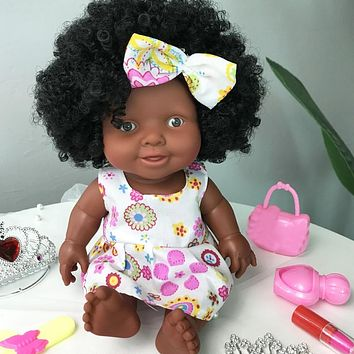 Christmas Gift Movable Black Doll Toy For Children