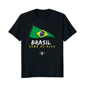 2018 Brazil 100% pure cotton World  Shirt   Team Cup Russia