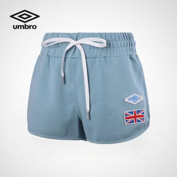 Umbro Summer New Shorts Women Elastic Waist Short Pants Women Fitness Loose Solid Soft Mini Short Femme cotton UCC63730