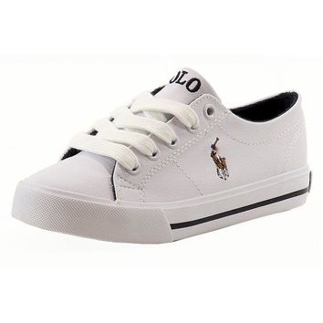 Polo Ralph Lauren Boy's Scholar Fashion Sneaker Shoes
