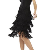 Nataley Fringe Halter Dress