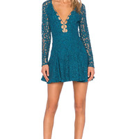V-Neck Strap Lace  Dress