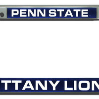 Penn State Nittany Lions Laser Cut Chrome License Plate Frame