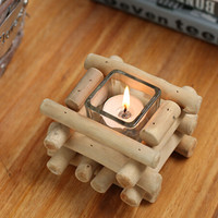 Handmade Wood Candle Holder Set Home Gift 22