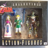 The Legend of Zelda Ocarina of Time Collectible Figures - Link, Ganon and Zelda