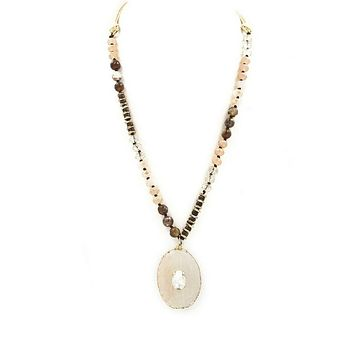 Stone Pull Tie Necklace | Ivory