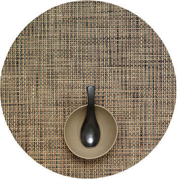 Chilewich Basketweave Round  Placemat S/4 | Bark