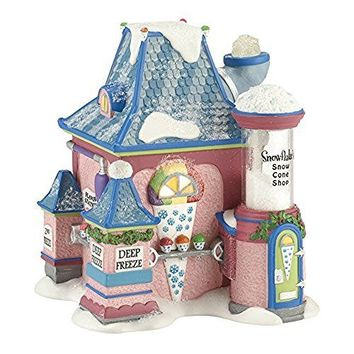 Department 56 North Pole Series Village Snowflake's Snow Cone Ornament Lit House, 5.5-Inch