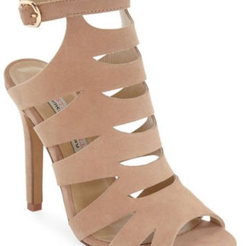 Nude Suede Heels By Chinese Laundry