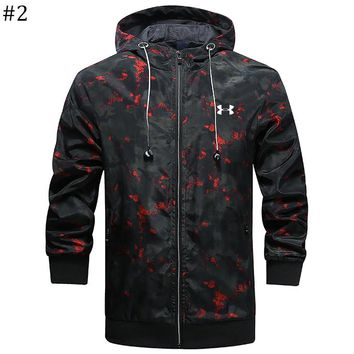 UA Under Armour trend men's sports jacket zipper hoodie windbreaker #2