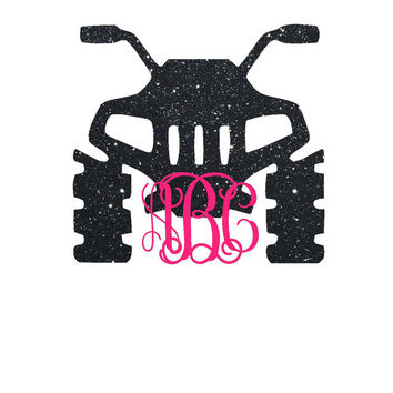 Four Wheeler Monogram Decal | ATV Decal | Yeti Monogram | Southern | ATV | Mud Riding | Custom | Jeep Decal | Car Decal | 4X4