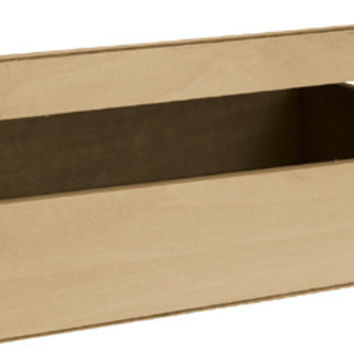 "Basswood Cornice Hinged Box - 12"" x 3.25"" x 9"""