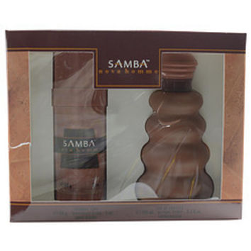 Perfumers Workshop SAMBA NOVA EDT SPRAY 3.3 OZ & DEODORANT STICK ALCOHOL FREE 2 OZ MEN