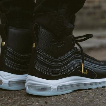 Best Online Sale Riccardo Tisci x Nike Air Max 97 Mid Black / Metallic Gold White Sport Running Shoes 913314-001