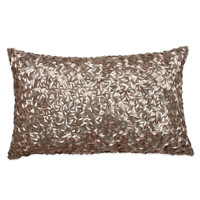 Mermaid Oblong Throw Pillow in Champagne