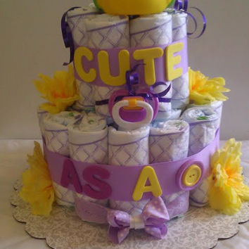 Cute as a Button Diaper Cake