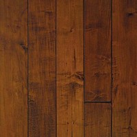 Millstead HandScraped Maple Spice 3/4 in. Thick x 5 in. Width x Random Length Solid Hardwood Flooring (23 sq. ft. / case)-PF6331 at The Home Depot