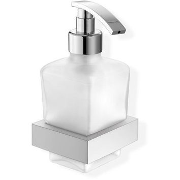 SCBA Valanio Wall Frosted Glass Pump Soap Lotion Dispenser Bath or Kitchen