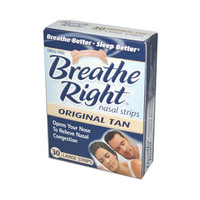 Breathe Right Nasal Strips Original Tan - 30 Large Strips