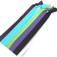 Women's Stretchy Headbands 5  Elastic Ribbon Hair by preppypieces