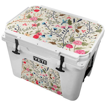 Digital Vintage Floral Pattern Skin for the Yeti Tundra Cooler