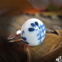 New Arrival Gift Jewelry Shiny Stylish Handcrafts Pottery Ring [6586353287]
