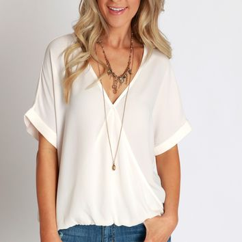 Sheer Happiness Wrap Blouse