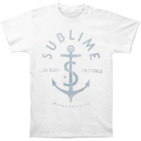 Sublime Men's  Anchor 1988 Slim Fit T-shirt White