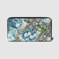 Gucci GG Blooms zip around wallet