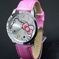 Hello Kitty Large Face Quartz Watch - Pink Band   Hello Kitty Pouch