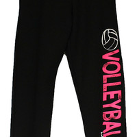 Volleyball Sweatpants in Black/Pink