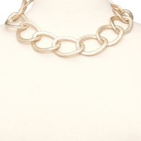Hammered Chain Link Necklace: Charlotte Russe