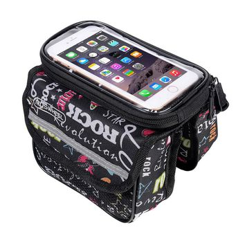 Bicycle Smart Phone Pouch Cycling Bike Top Frame Tube Bag Storage Pannier 5.0 5.7 inches Touch Screen Cycling MTB Road 121049