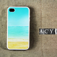 Summer Sea Abstract iPhone 4 and iPhone 4S CaseRubber by ACYC