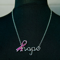 Pink Against Cancer Hope Necklace
