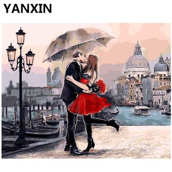 YANXIN DIY Frame Painting By Numbers Oil Paint Wall Art Pictures Decor For Home Decoration H033