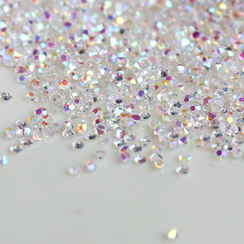 1 box 1.1mm About 1440 pcs AB Glass Galitter Micro Shinny Mini Nail Art Decoration DIY Nail Art Nail Beauty Rhinstones