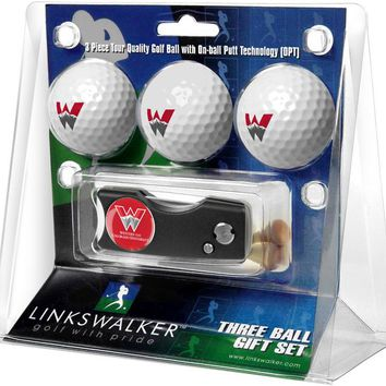 Western State Colorado University Mountaineers Spring Action Divot Tool 3 Ball Gift Pack