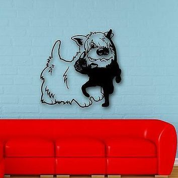 Wall Stickers Vinyl Decal Dog Cat Pets Friendship Cool Room Decor Unique Gift (ig699)